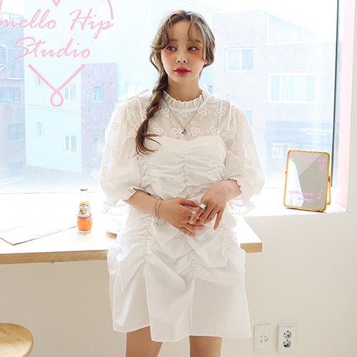 mini shirring ops (only sky blue!)