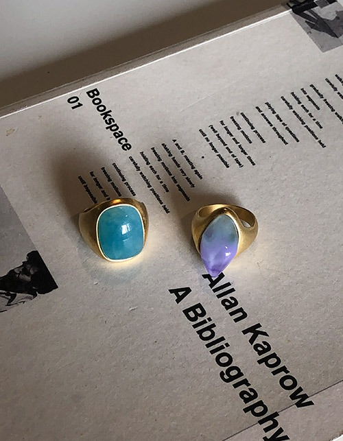 light stone ring (2 colors)
