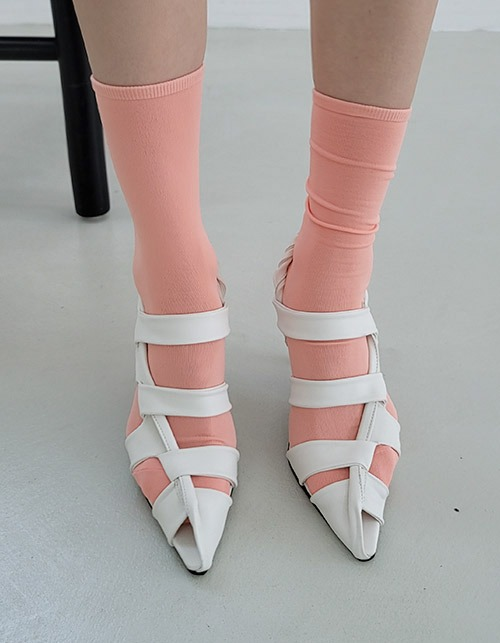 stem t-strap heels(2 colors)