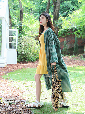 check maxi robe (only green!)