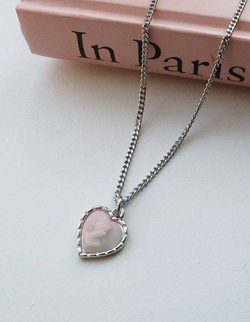 pure heart cameo necklace