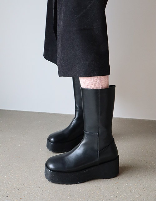 square toe wedge boots