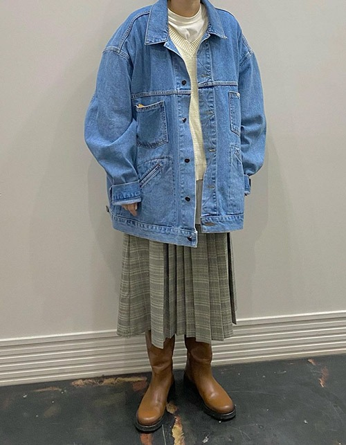 four pocket denim oversize jacket